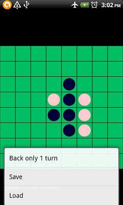 Reversi with conversation APP (Othello for two people)